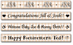 Personalized Khaki Gingham Tape