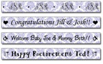 Personalized Plum Damask Tape