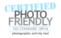 CERTIFIED Photo Friendly - ISO STANDARD 18916 - photographic activity test
